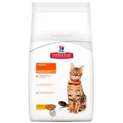 Корм для кошек на курице Hills Science Plan Optimal Care Feline Adult 5 кг