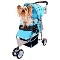 Ibiyaya New I-Cute Pet Buggy, голубая, 80х90х32 см