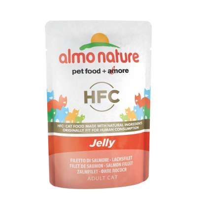 Паучи лосось в желе для кошек Almo Nature Classic Nature Jelly Salmon 55 г