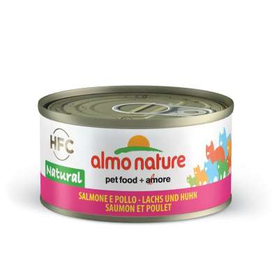 Консервы для кошек с лососем и курицей Almo Nature Legend HFC Adult Cat Salmon & Chicken 70 г
