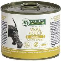 Nature's Protection Adult Small Breeds Veal & Duck, 200 г
