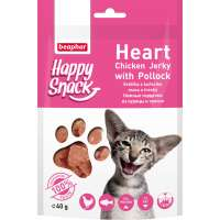 Beaphar Happy Snack Heart Chicken Jerky & Pollock, 40 г