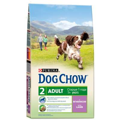 Корм для собак с ягненком Dog Chow Adult Lamb 2,5 кг