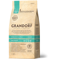 Grandorf 4Meat & Brown Rice Adult Indoor, 400 г