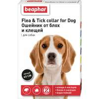 Beaphar Flea & Tick Collar Dog Black, Черный