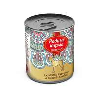 Родные корма Canned Chicken Hearts, 240 г