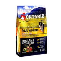 Ontario Adult Medium Lamb&Rice, 12 кг