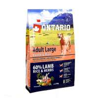 Ontario Adult Large Lamb, Turkey&Rice, 12 кг