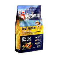 Ontario Adult Medium 7 Fish&Rice, 750 г