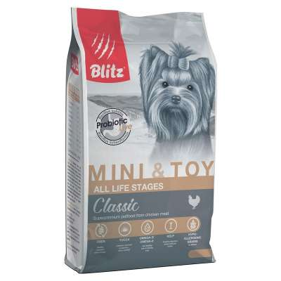 Корм для собак мелких пород Blitz Adult Mini & Toy Breeds 500 г