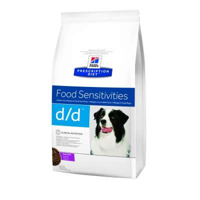 Диета Корм сухой для собак лечение пищевых аллергий Hills Adult Dog Rice & Duck D/D Food Sensitivities 5 кг