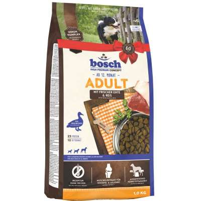 Корм сухой с уткой и рисом для собак Bosch Adult Duck & Rice 1 кг